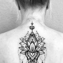 Dotwork lotus